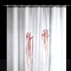 Duschvorhang blutbad preisvergleich die besten angebote for Butlers duschvorhang