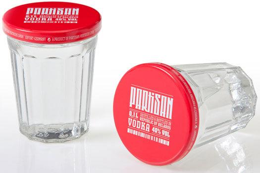Partisan Vodka Sto Gramm  Glass