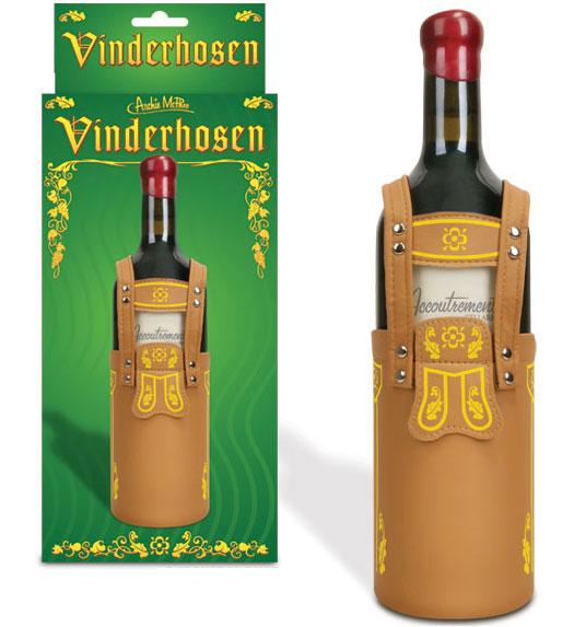 Weinflaschendeko Lederhosen