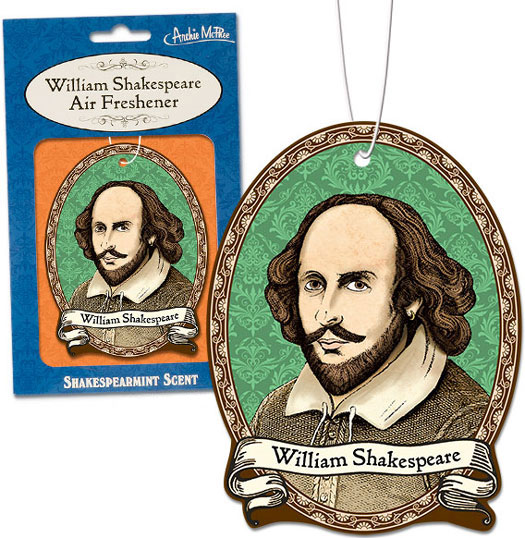 William Shakespeare Air Freshener