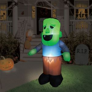 Inflatable Light Up Zombie