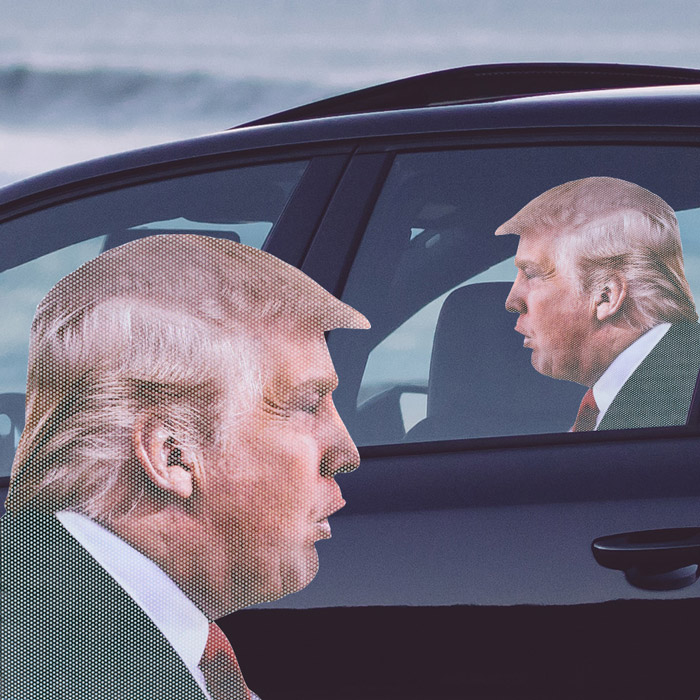 Sticker Auto Ride With Trump