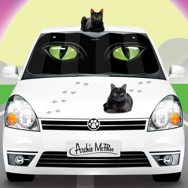 Cat Eyes Auto Sunshade