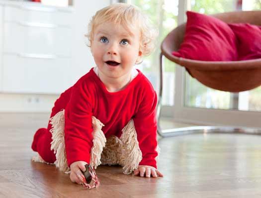 Baby Mop Strampler Wischmop