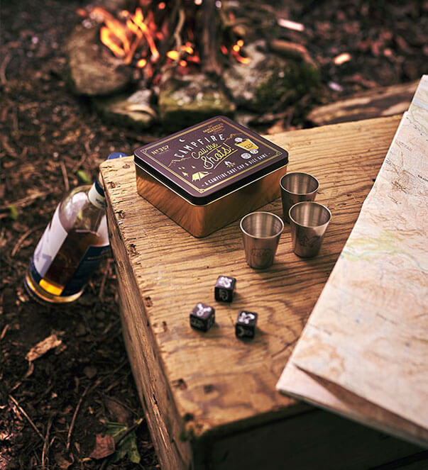 Campfire Shot Cup and Dice Game