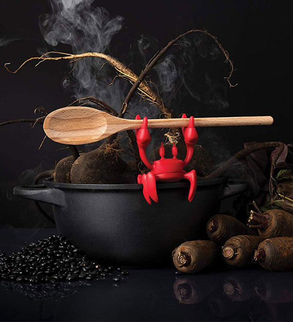 Crab Spoon Holder & Steam Releaser