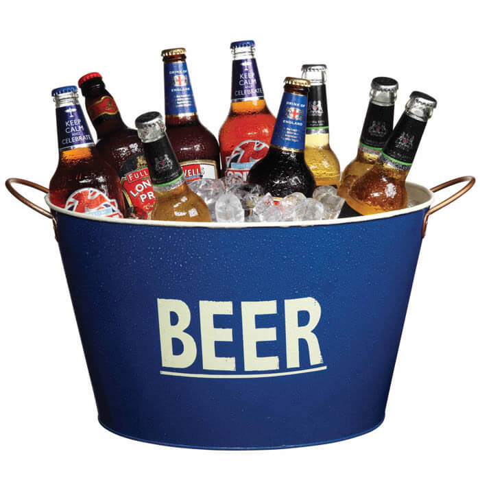 Large Tin Beer Pail / Cooler