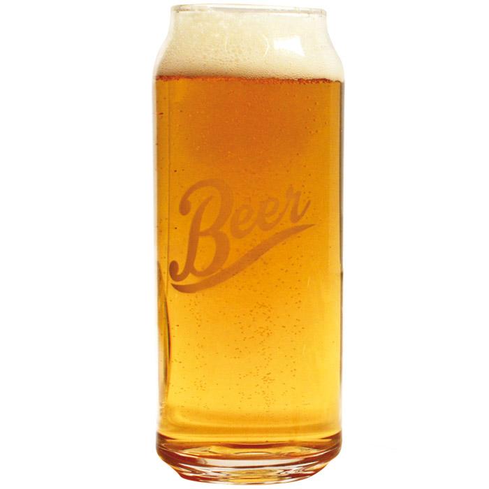 Bierdosen-Glas