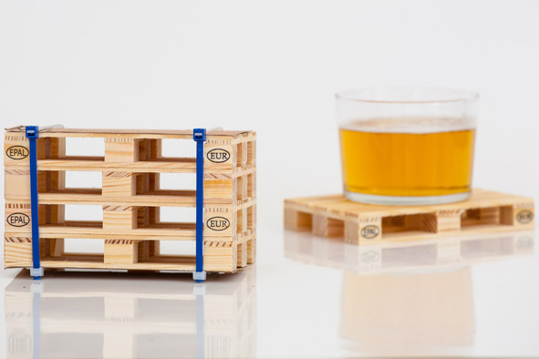 Set of 4 Design Pallet Coasters