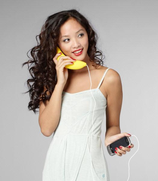 Telefonhörer Banane fürs Smartphone