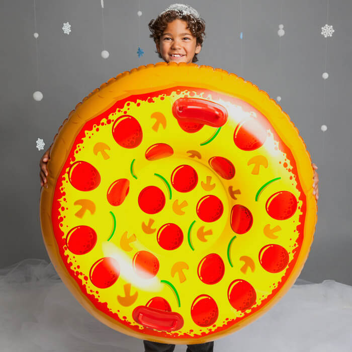 Giant Supreme Pizza Snow Tube