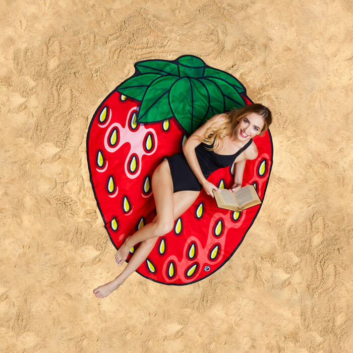 Gigantic Strawberry Beach Blanket