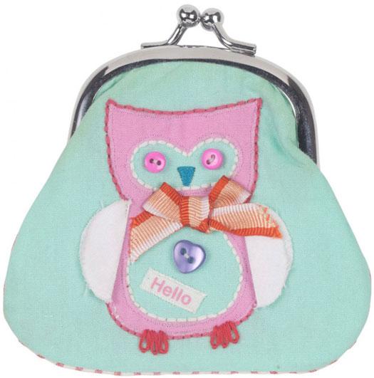 Portamonete Ricamato Button Girl Civetta