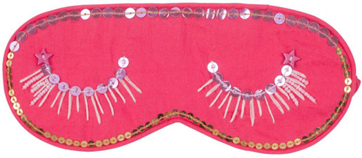 Eyelashes Embroidered Eye Mask