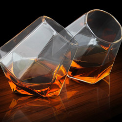 Diamond Glass Set of 2