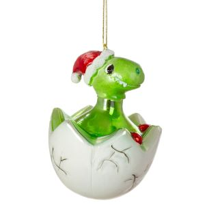 Hatching Baby Dinosaur Shaped Bauble