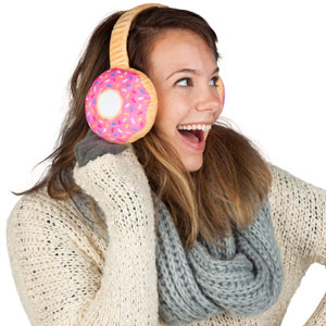 Frosted Donut Ear Muffs
