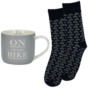 Earlstree & Co Kaffeebecher & Socken Geschenkset
