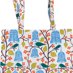 Rob Ryan Oil Cloth Shopper Bag