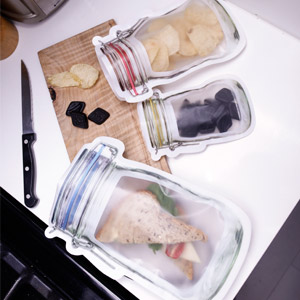 Zipper Mason Jar Bag Set of 9
