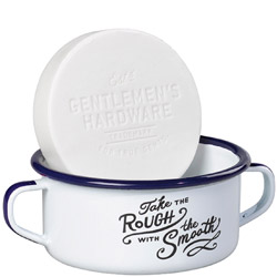 Shaving Soap & Enamel Shaving Bowl