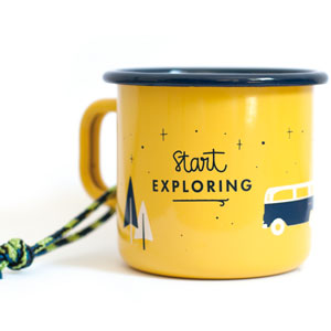 Start Exploring Enamel Mug