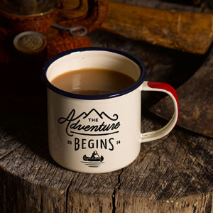 Adventure Emaille Tasse