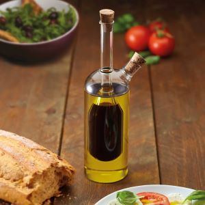 2-in-1 Glass Olive Oil & Vinegar Bottle