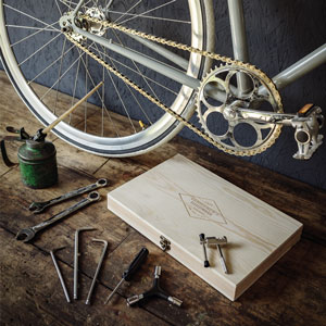 Bicycle Tool Kit In Wooden Box