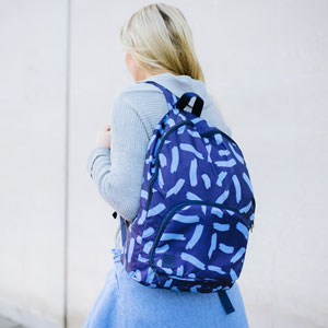 Foldaway Back Pack Midnight Blue