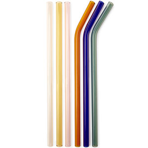 Colored Glass Straws