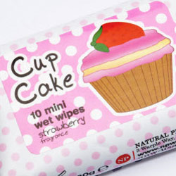 Cupcake Scented Handy Wipes