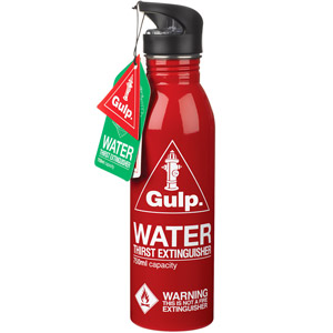 Red Thirst Extinguisher Water Bottle