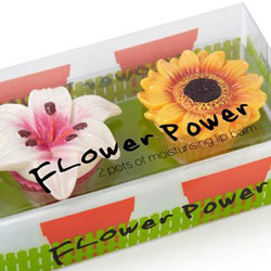 Flower Lip Balms Set - Lily And Sunflower