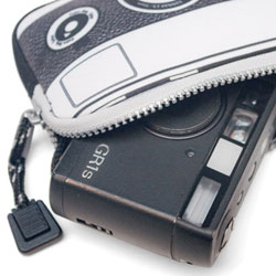 Cassette Neoprene Camera Case Black