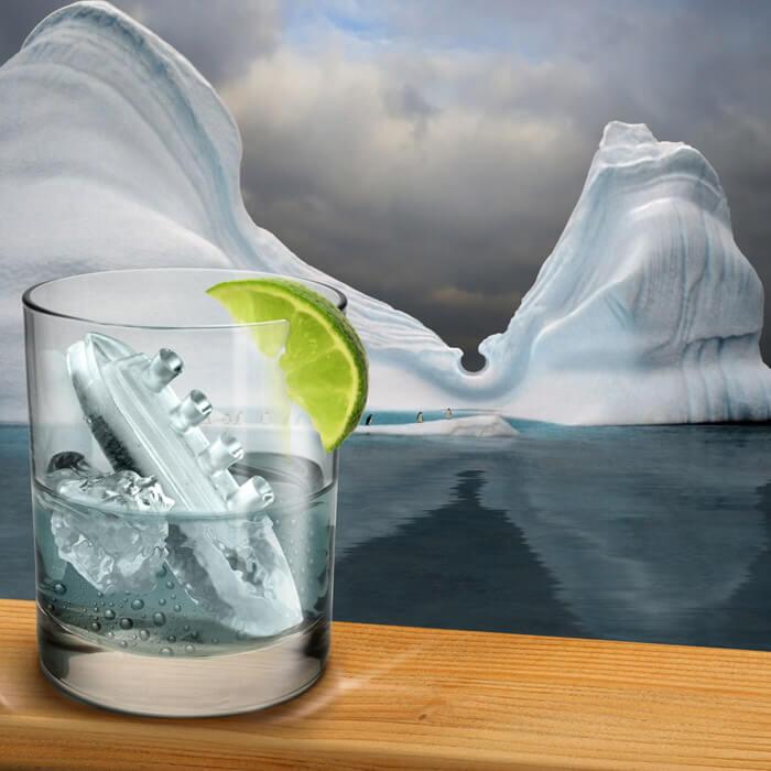 Gin & Titonic Eiswürfelform