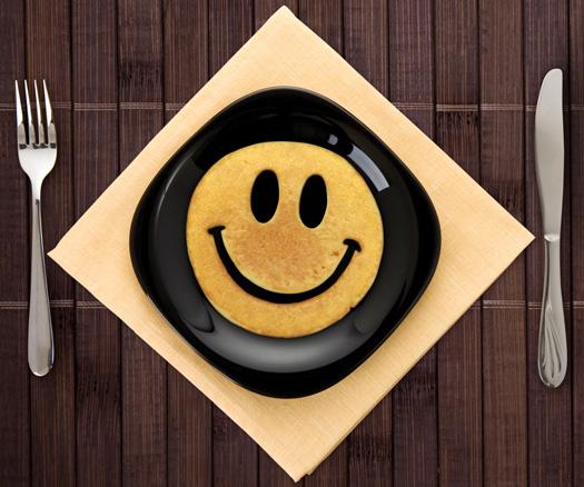 Smiley Frühstücksform