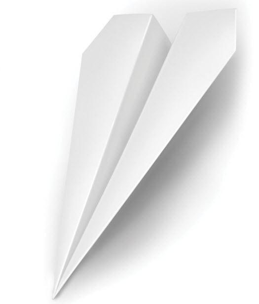 Türstopper Papierflugzeug