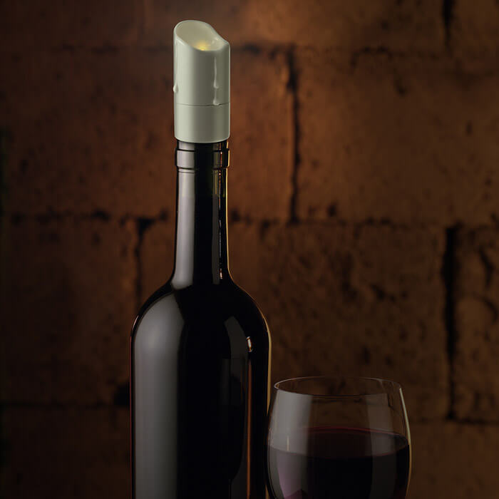 Wax & Wine Flickering LED Wine Stopper