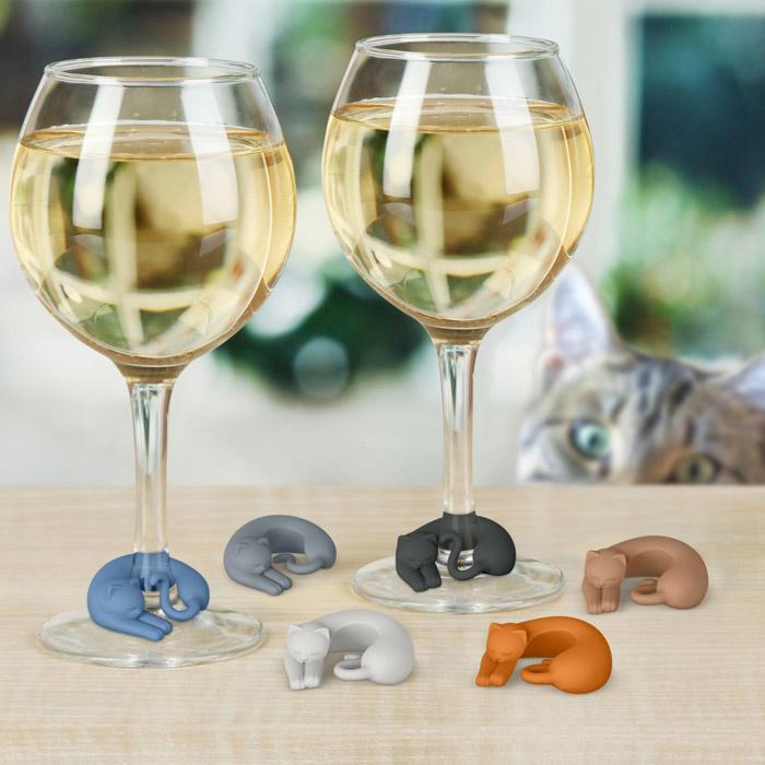 Weinglasmarkierer Katzen
