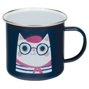 French Cat Enamel Mug