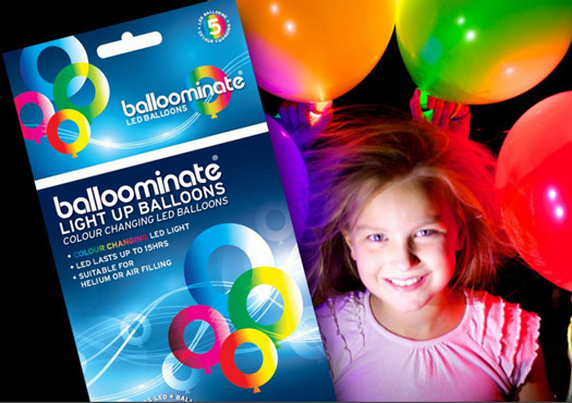 Farbwechselnde LED Luftballons Ballominate