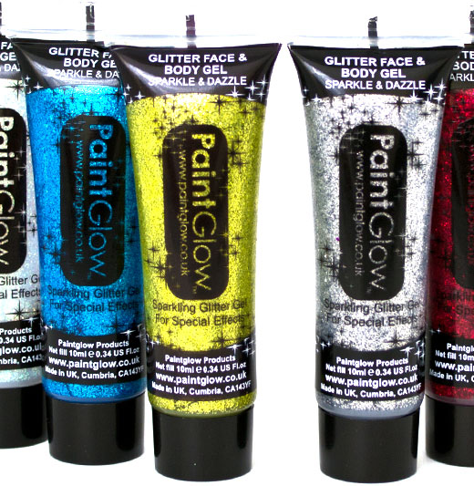Glitter Face & Body Gel Set of 3
