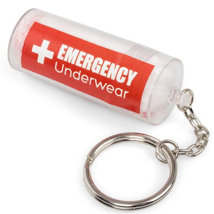 Notfallunterhose Schlüsselanhänger