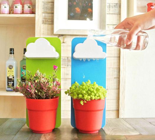 blumentopf rainy pot gadgets und geschenke. Black Bedroom Furniture Sets. Home Design Ideas