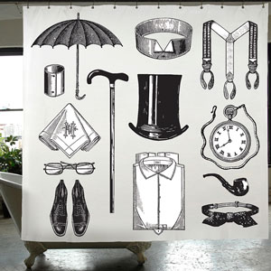 Gentleman Shower Curtain