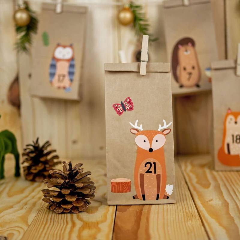 DIY Advent Calendar Forest Animals