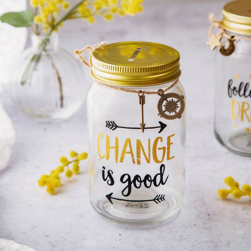 Change Is Good Money Jar