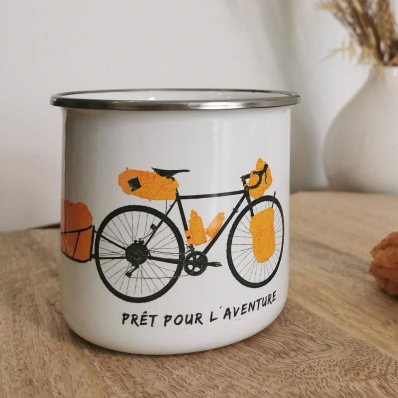 Enamel Mug Bike Tour