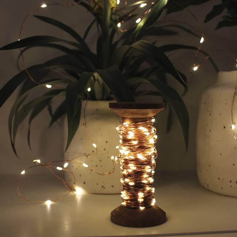 Yarn Spool Fairy Lights